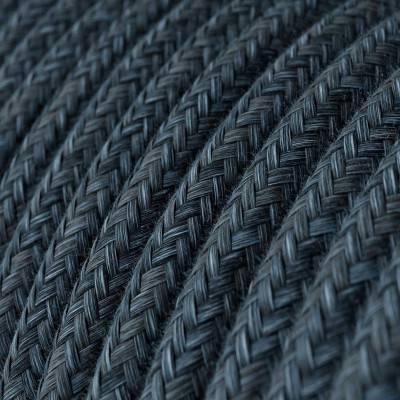 Fil Électrique Rond Gaine De Tissu De Couleur Coton Bleu Mirage RX10
