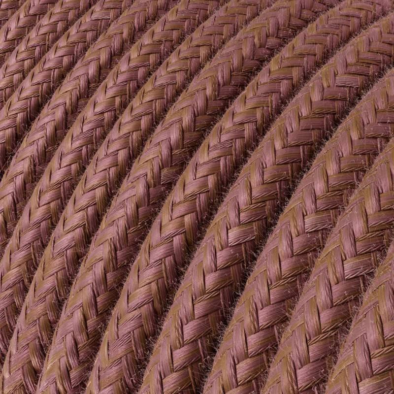 Fil Électrique Rond Gaine De Tissu De Couleur Coton Marsala RX11