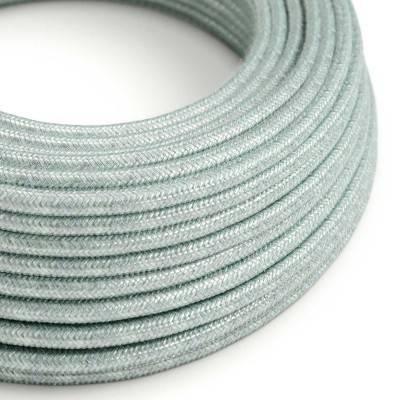 Rond flexibel strijkijzersnoer van katoen - Blue haze RX12