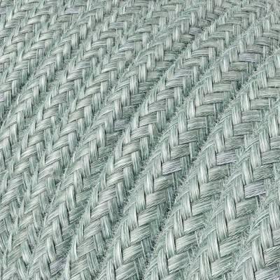 Fil Électrique Rond Gaine De Tissu De Couleur Coton Bleu Brume RX12