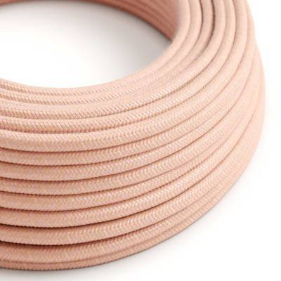 Rond flexibel strijkijzersnoer van katoen - Zalm RX13