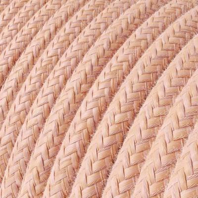 Fil Électrique Rond Gaine De Tissu De Couleur Coton Saumon RX13