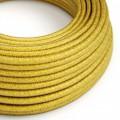 Ronde flexibele electriciteit textielkabel van viscose - RM31 citroen