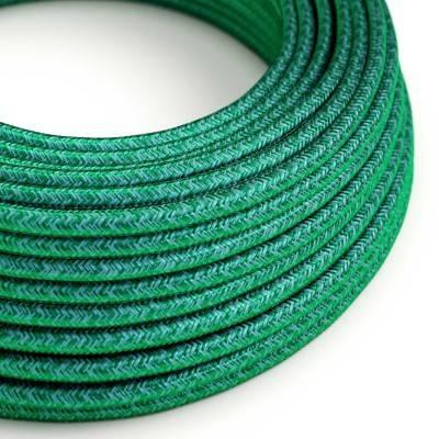 Ronde flexibele electriciteit textielkabel van viscose - RM33 emerald
