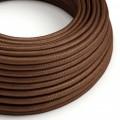 Ronde flexibele electriciteit textielkabel van viscose - RM36 roest