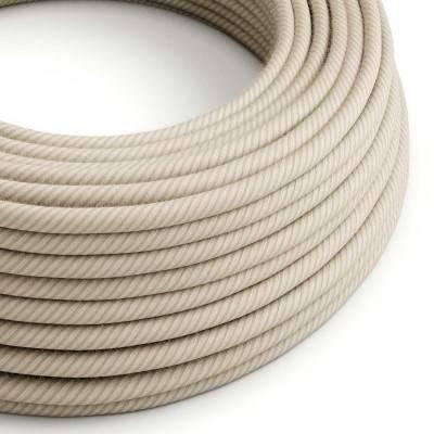 Rond flexibel strijkijzersnoer Vertigo bedekt met Straw katoen en linnen ERD20
