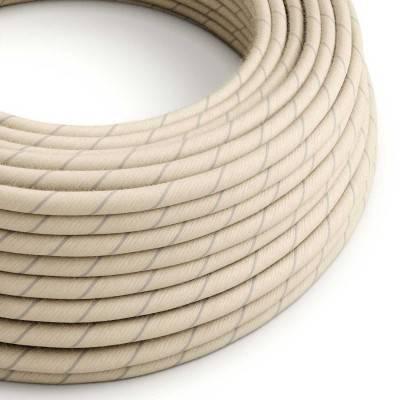 Câble Vertigo rond avec tissage en Coton d'Avoine et Lin ERD23