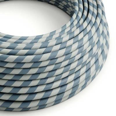 Câble Vertigo rond HD avec tissage classique Bleu Clair et Bleu Ciel ERM40