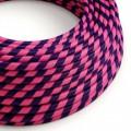 Rond strijkijzersnoer Vertigo HD bedekt met Cheshire textiel ERM41