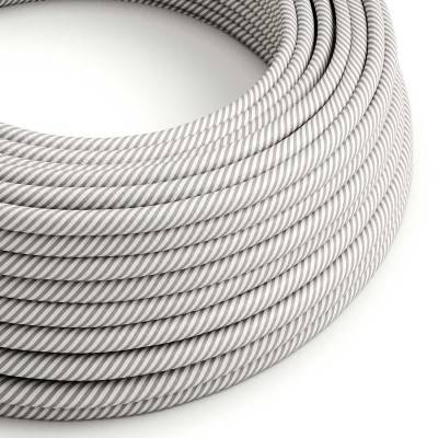 Câble Vertigo rond HD avec tissage classique Blanc et Aluminium ERM46