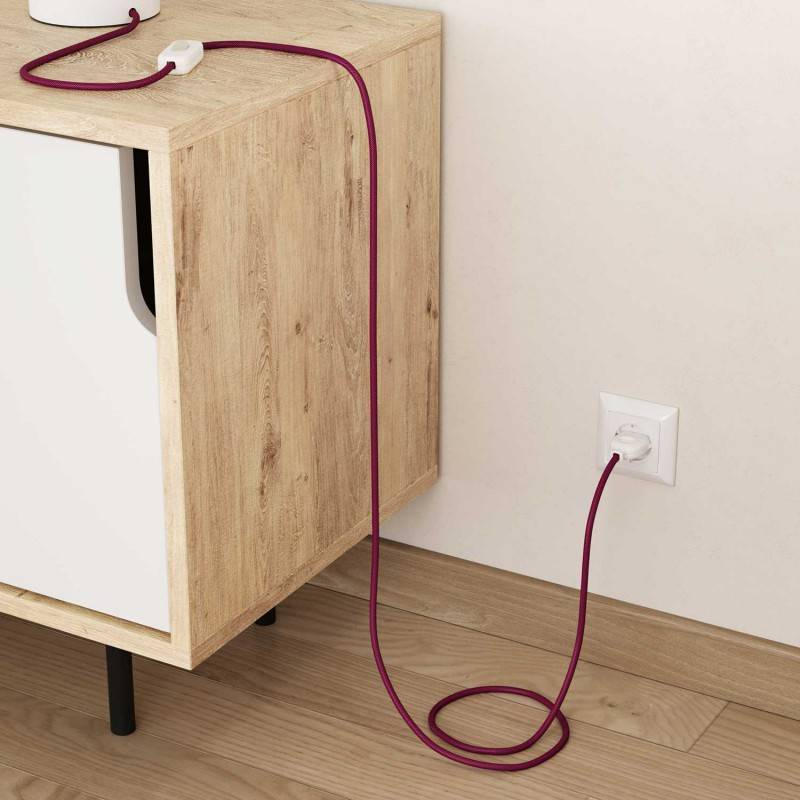 Câble Vertigo rond HD avec tissage classique Fuchsia et Violet Foncé ERM50