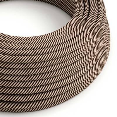 Rond strijkijzersnoer Vertigo HD bedekt met Sen en Dark Brown textiel ERM51