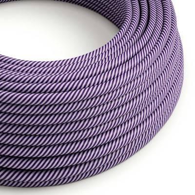 Rond strijkijzersnoer Vertigo HD bedekt met Lilac en Dark Purple textiel ERM52