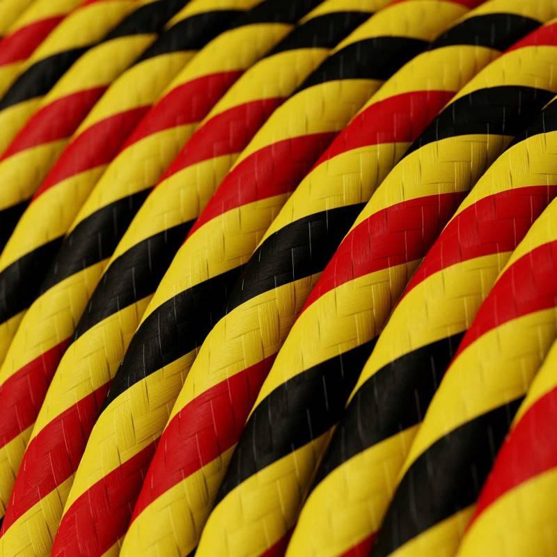 Rond strijkijzersnoer Vertigo HD bedekt met Bruxelles textiel ERM59