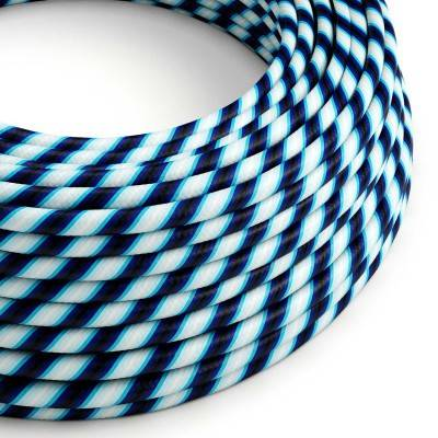 Rond strijkijzersnoer Vertigo HD bedekt met Mr Blue textiel ERM60