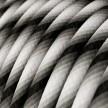Rond strijkijzersnoer Vertigo HD bedekt met Mr Grey textiel ERM63