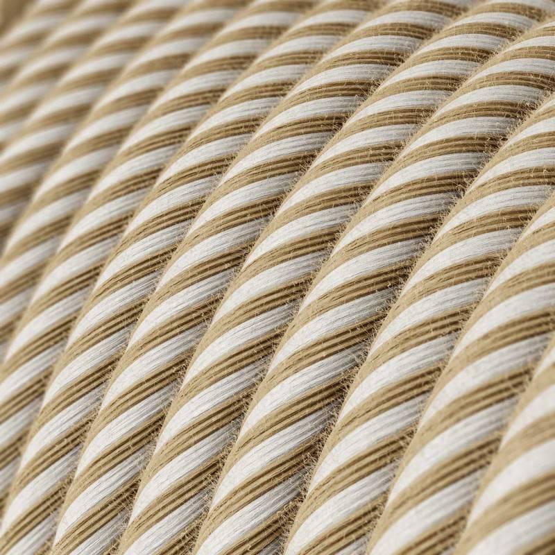Rond flexibel strijkijzersnoer Vertigo bedekt met Hawser jute en katoen RN07