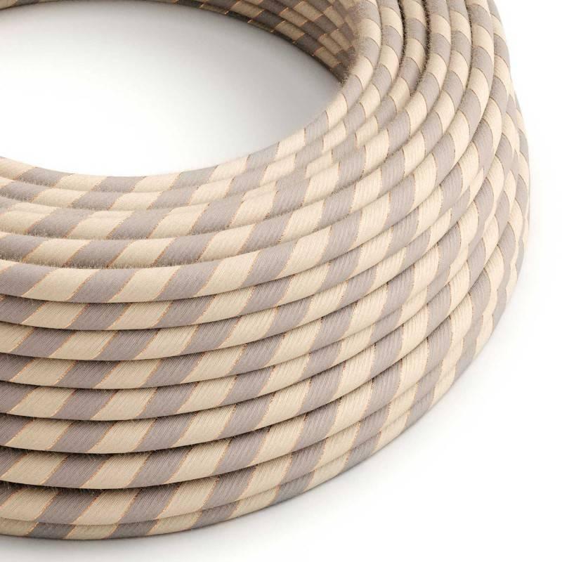 Câble Vertigo rond avec tissage en Coton et Lin avec Fil de Cuivre ERR05