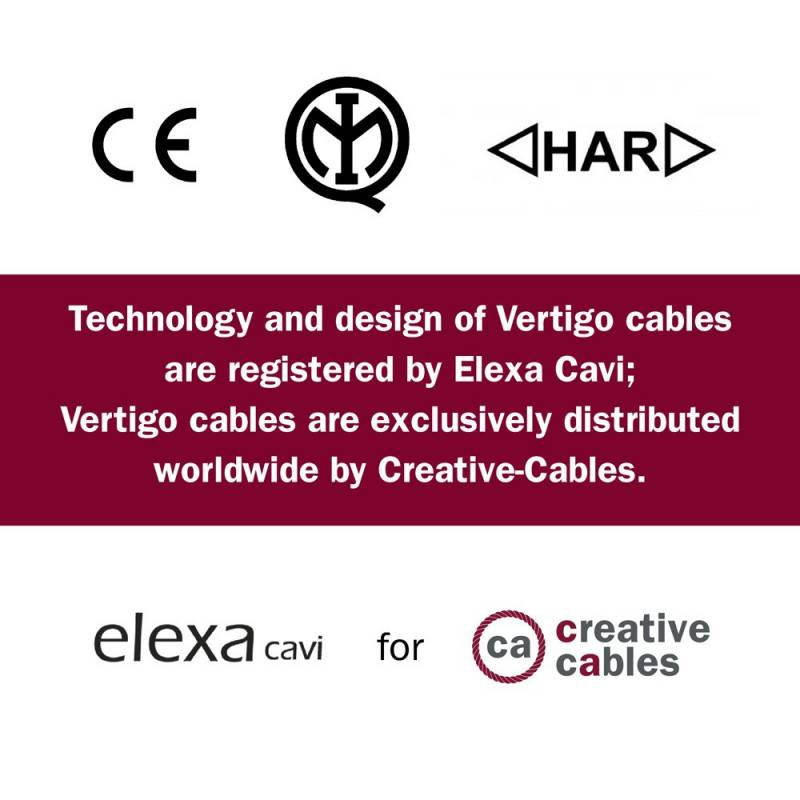 Câble Vertigo rond HD Optical avec tissage Noir et Cuivre ERM66
