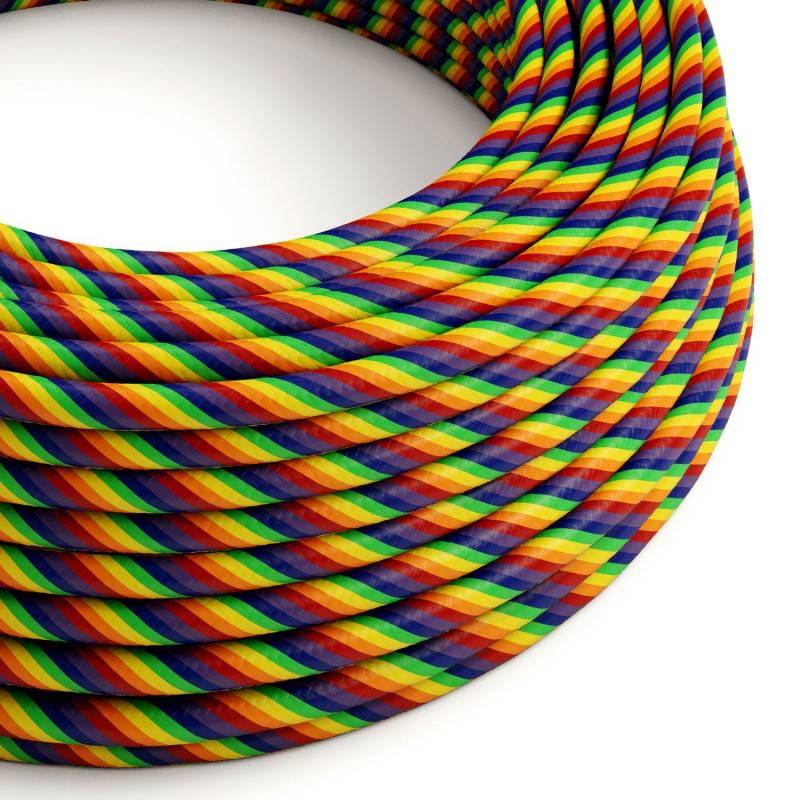 Vertigo HD ronde voedingskabel bedekt met Rainbow ERM68 stof