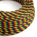 Câble électrique rond Vertigo HD recouvert de tissu Rainbow ERM68