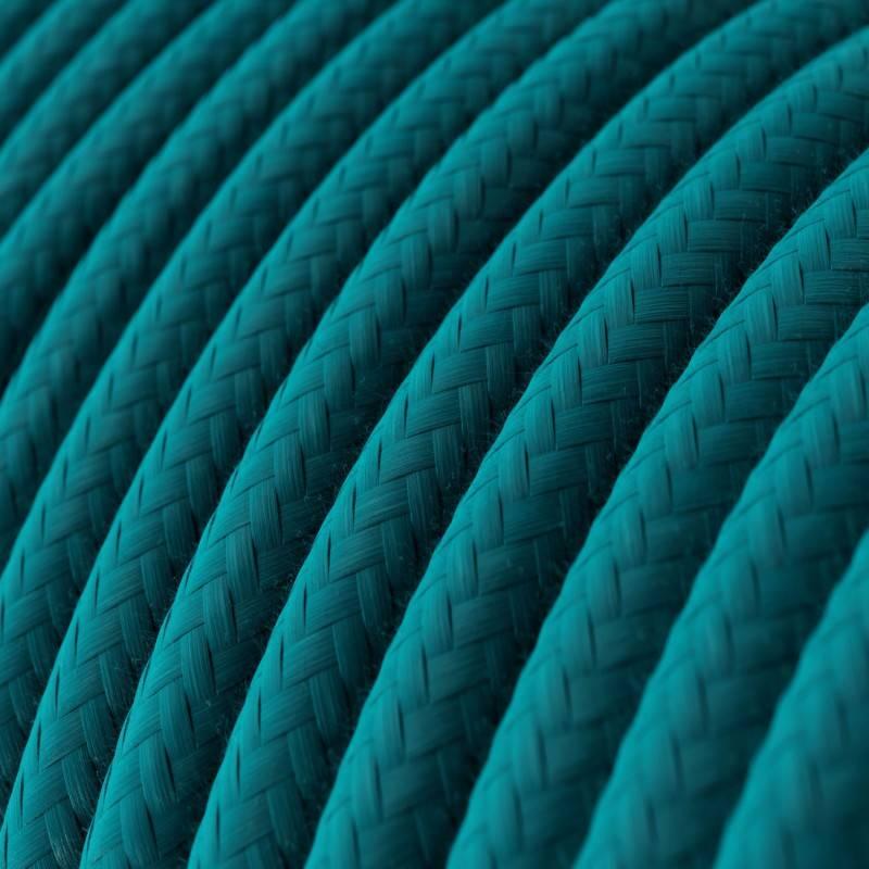 Hemelsblauw katoenen ronde voedingskabel RC21