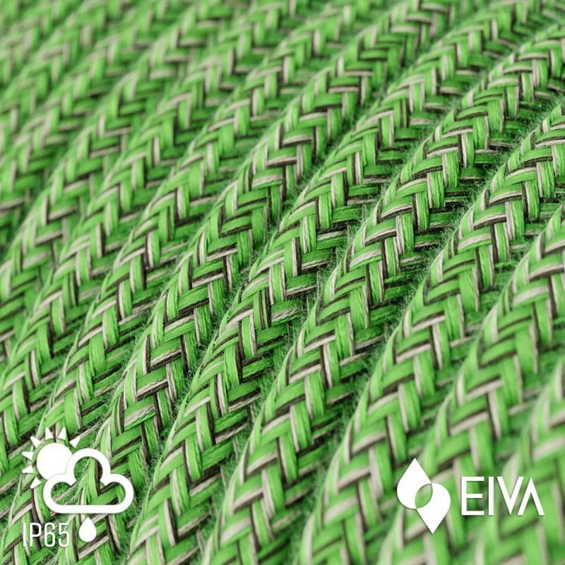 EIVA PASTEL Suspension d'extérieur avec câble textile, rosace et douille en silicone étanche IP65