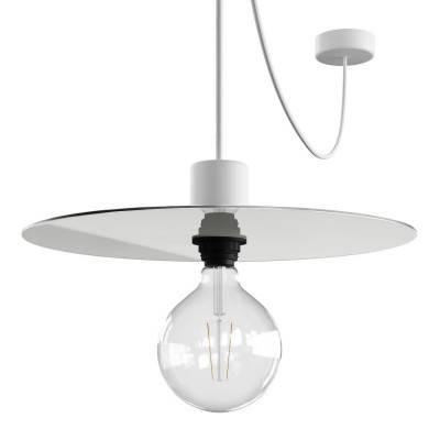 EIVA ELEGANT Hanglamp met 5 m textielkabel, Ellepì lampenkap, plafondkap en fitting in IP65 waterdicht siliconen
