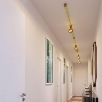 Filé Symmetric kit systeem - met 5 m. prikkabel voor lichtsnoer en 9 houten componenten voor binnenruimtes.