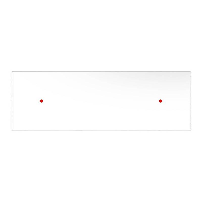 Rosace XXL Rose-One rectangulaire à 2 trous et 6 trous latéraux, dimension 675 x 225 mm