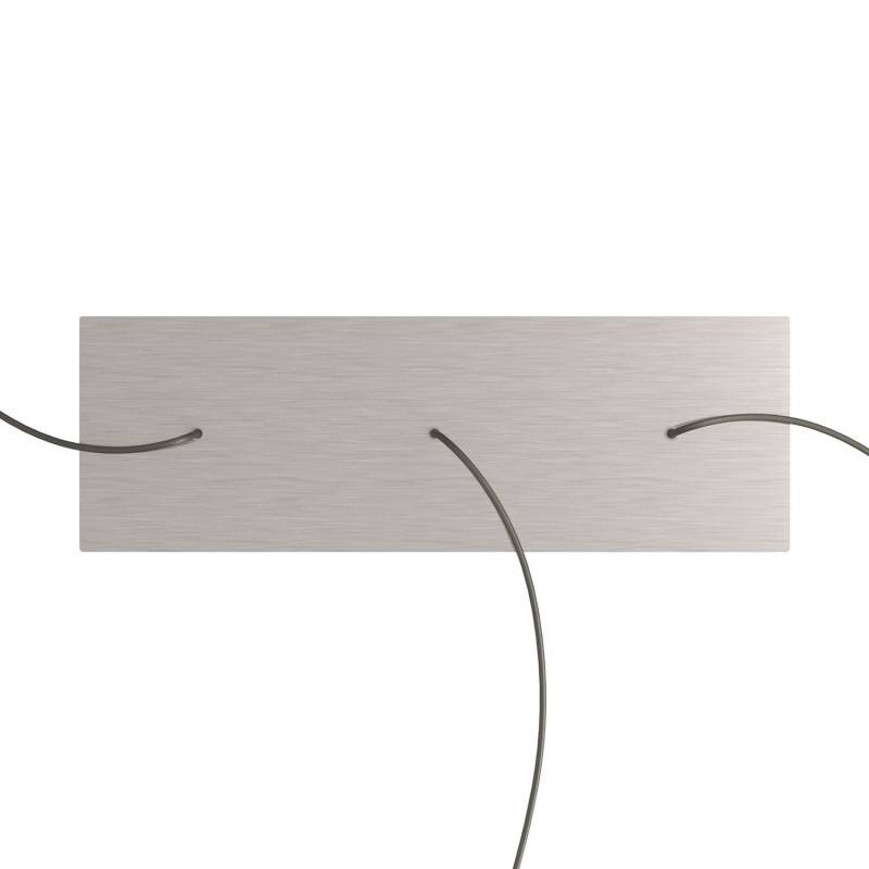 Rosace XXL Rose-One rectangulaire à 3 trous alignés et 6 trous latéraux, dimension 675 x 225 mm