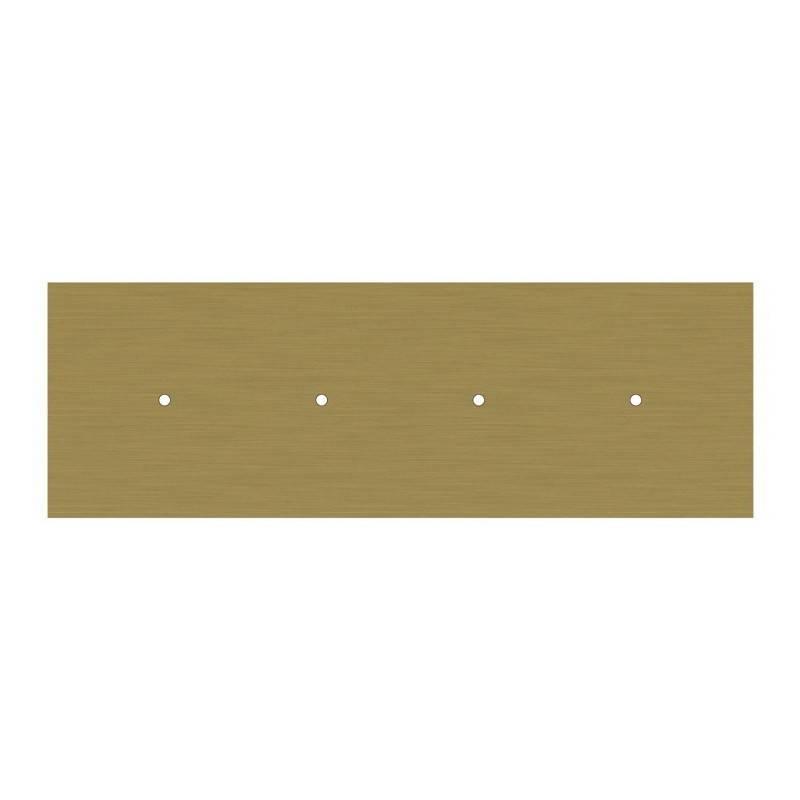 Rosace XXL Rose-One rectangulaire à 4 trous alignés et 6 trous latéraux, dimension 675 x 225 mm