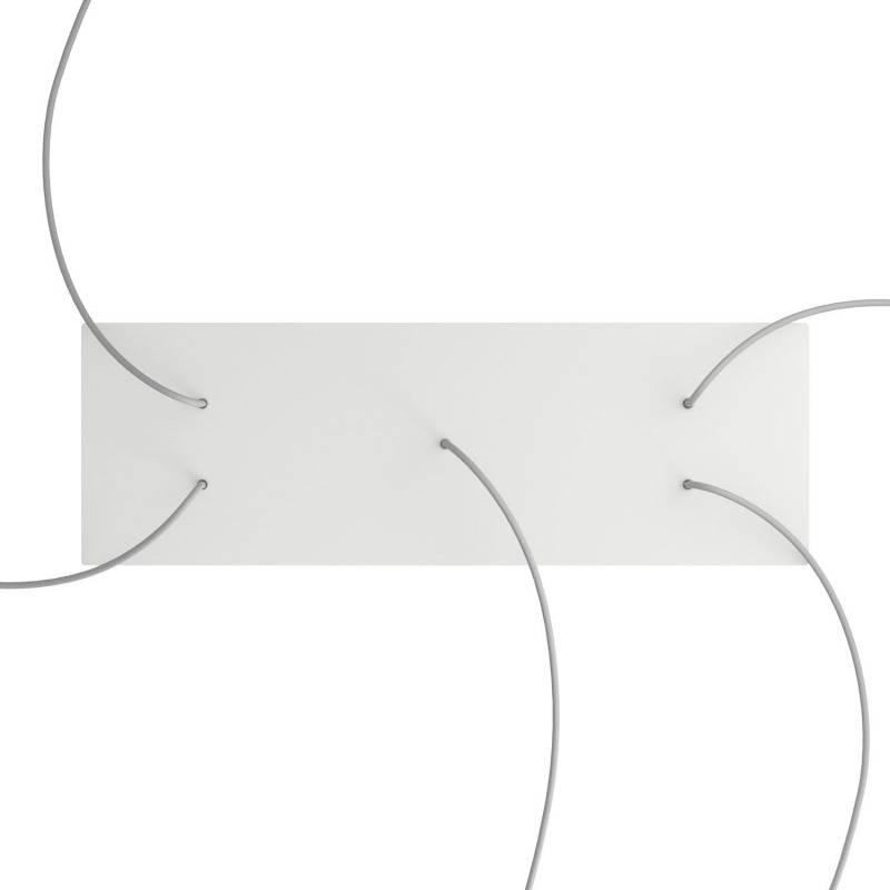 Rosace XXL Rose-One rectangulaire à 5 trous et 6 trous latéraux, dimension 675 x 225 mm