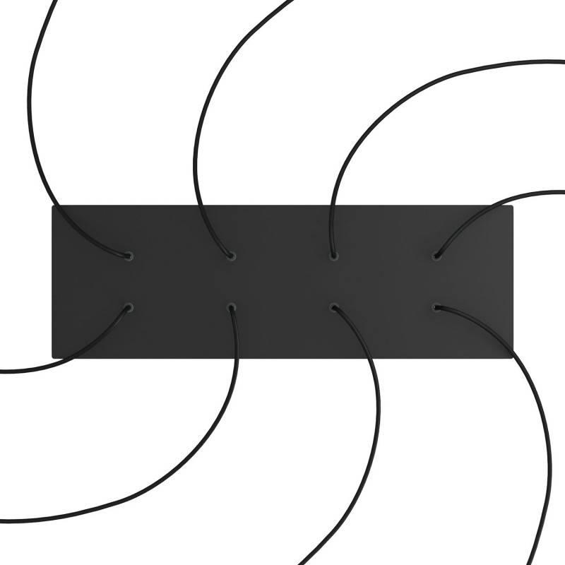 Rosace XXL Rose-One rectangulaire à 8 trous et 6 trous latéraux, dimension 675 x 225 mm