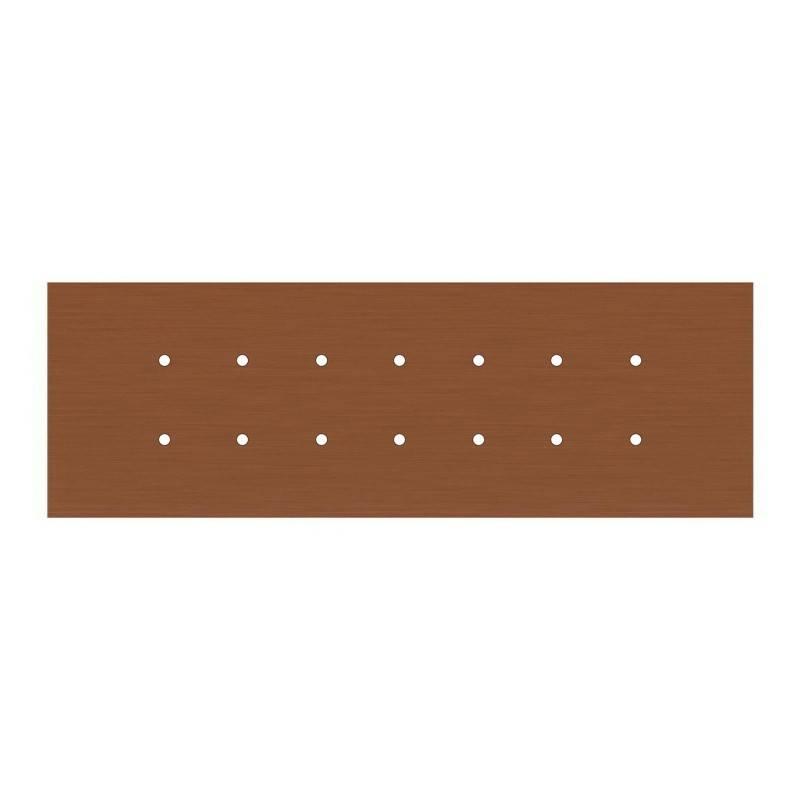 Rosace XXL Rose-One rectangulaire à 14 trous et 6 trous latéraux, dimension 675 x 225 mm