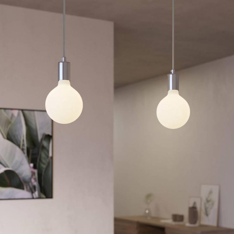2 lichts-hanglamp voorzien van XXL rechthoekige Rose-One 675 mm compleet met strijkijzersnoer en metalen afwerking