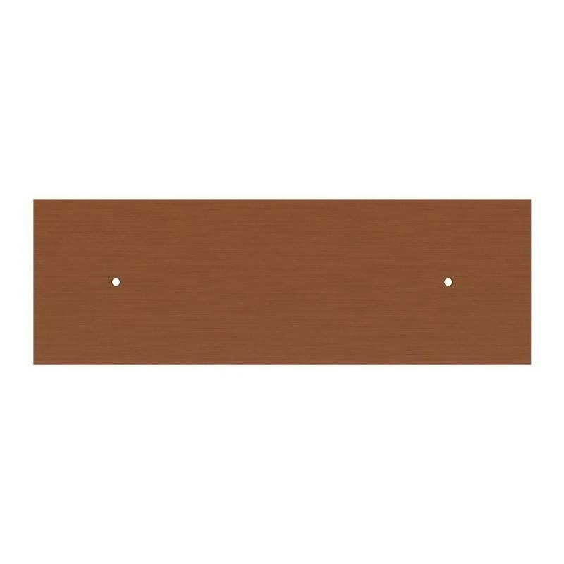 Suspension à 2 bras avec XXL Rose-One rectangulaire 675 mm complète avec câble textile et finitions en métal