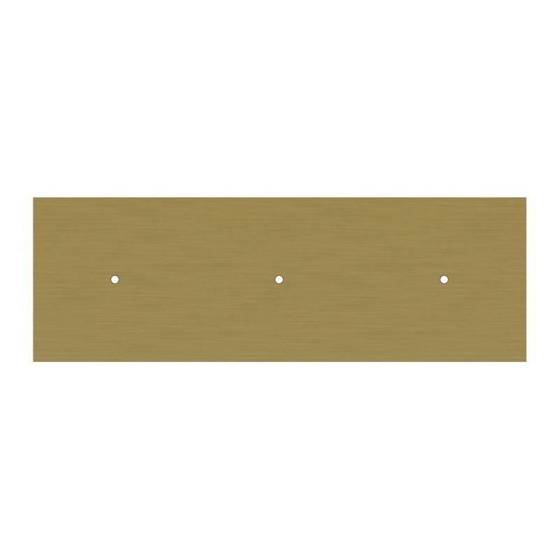 Suspension à 3 bras avec XXL Rose-One rectangulaire 675 mm complète avec câble textile et finitions en métal