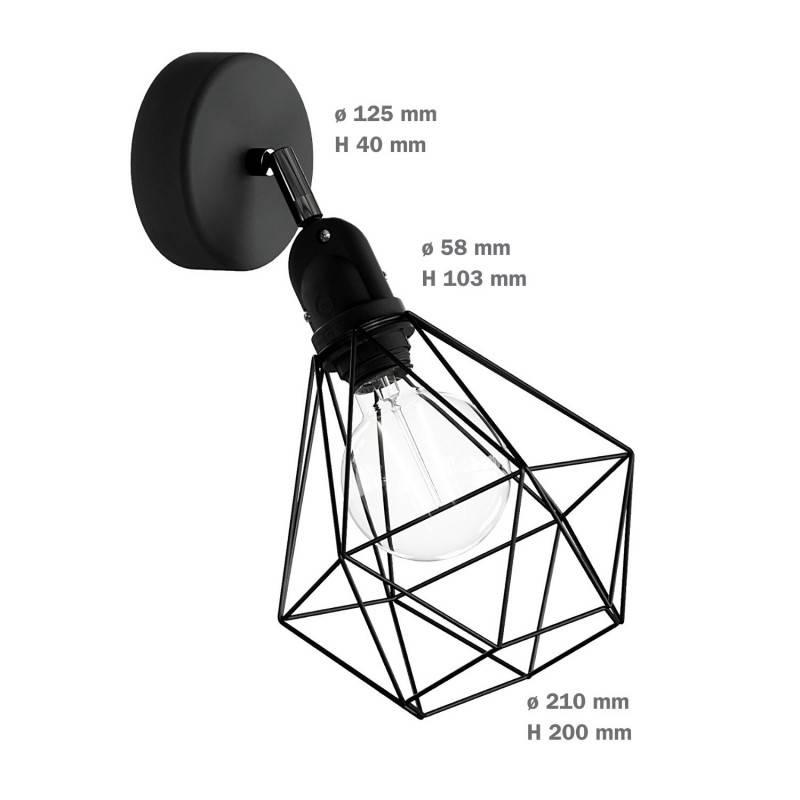 Fermaluce EIVA met Diamond lampenkap en verstelbaar scharnier