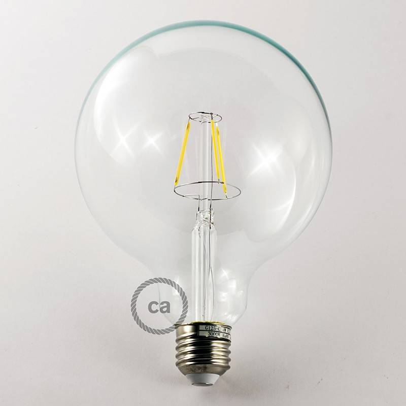 Lampe suspension multiple 2 bras avec câble textile et finitions en métal