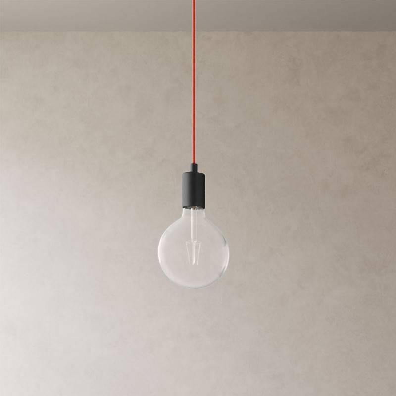 Spider - Lampe suspension multiple 3 bras Made in Italy avec câble textile et finitions en métal