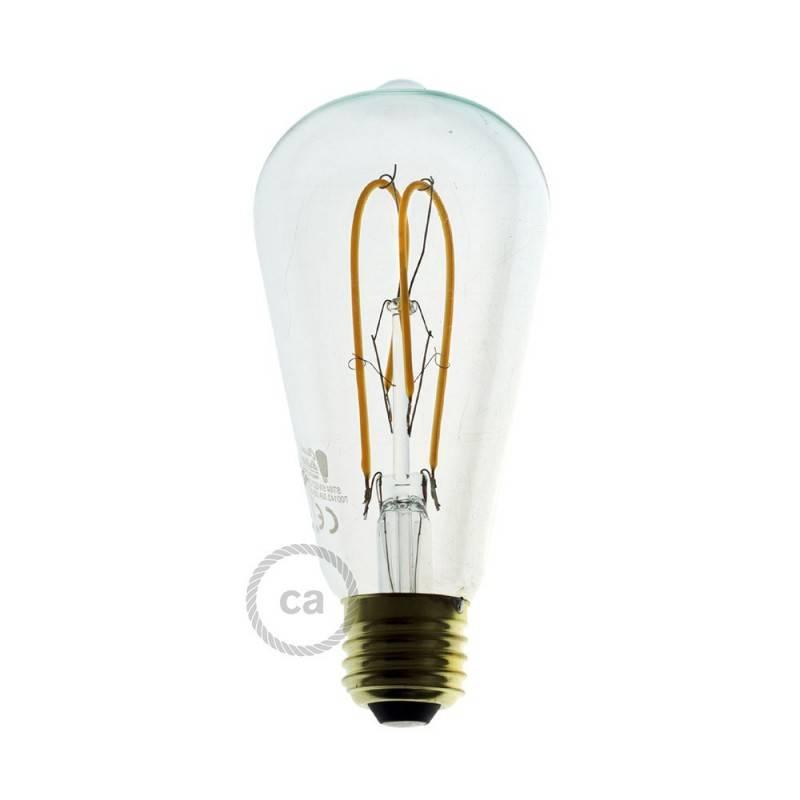 Spider - Lampe suspension multiple 2 bras Made in Italy avec câble textile et abat-jour Drop