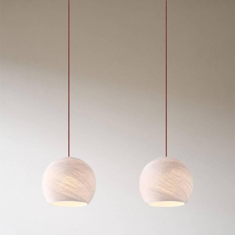 2 lichts-hanglamp voorzien van XXL rechthoekige Rose-One 675 mm compleet met strijkijzersnoer en Cupola XS-lampenkap