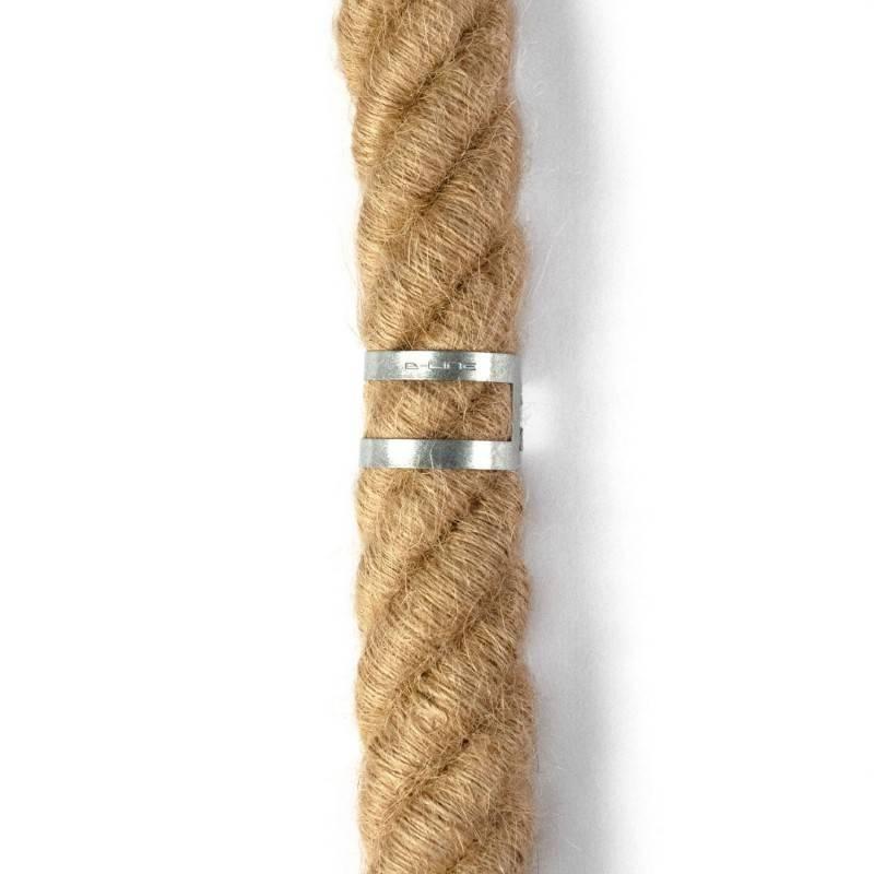 Clips passe-câbles métalliques pour cordon 30mm diamètre