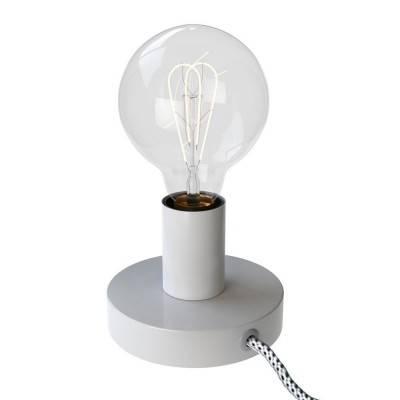Posaluce Metal, metalen tafellamp inclusief lichtbron, textielkabel, schakelaar en 2-polige stekker
