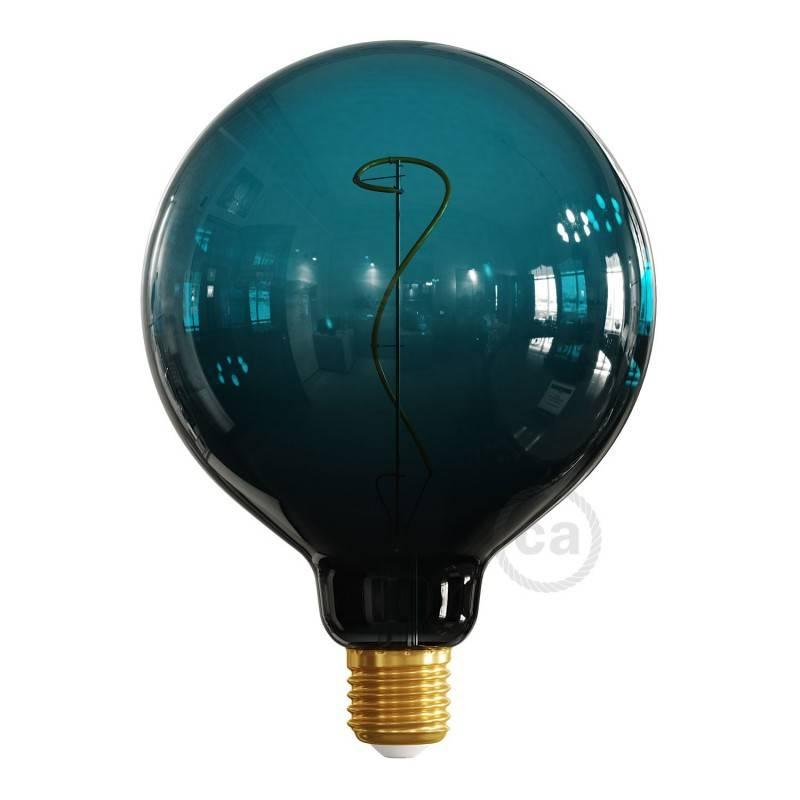 Posaluce Leather, lampe de table en bois fournie avec câble textile, interrupteur et prise bipolaire