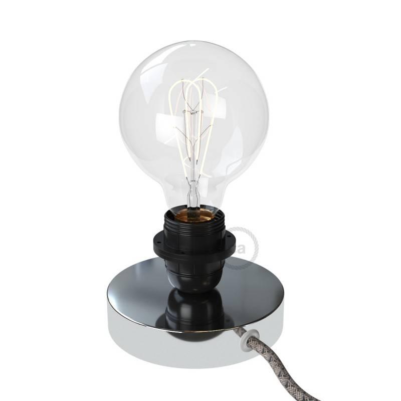 Posaluce Metal, lampe de table en métal, fournie avec câble textile, interrupteur et prise bipolaire