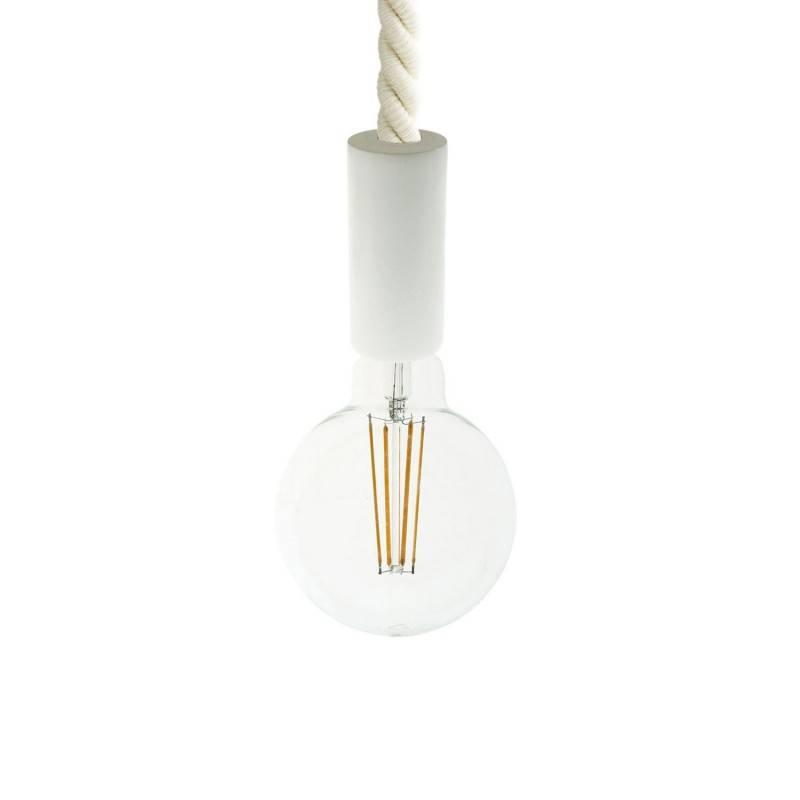 Sospension fabriquée en Italie avec corde 2XL 24 mm finition bois peint