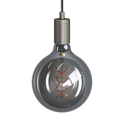 Suspension fabriquée en Italie avec cable textile torsadé et finition en métal