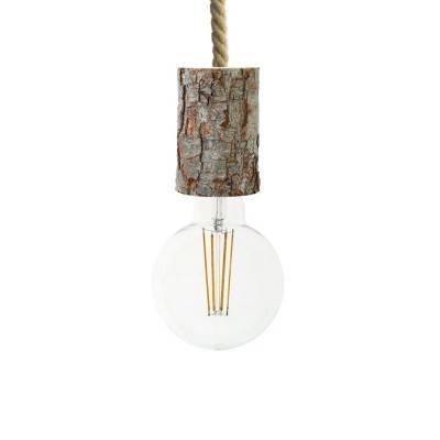 Suspension fabriquée en Italie avec corde XL avec douille d'écorce